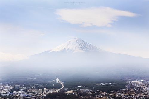 sky cloud mist japan fog landscape fuji village view fujisan mtfuji yamanashi kawaguchiko