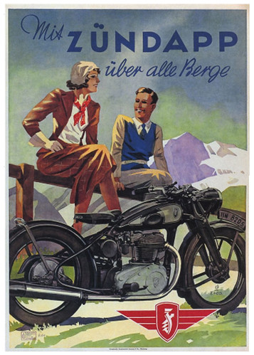 1938 Zundapp Alpine Illustration by bullittmcqueen