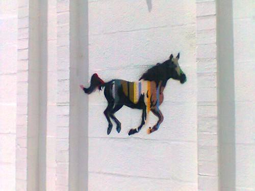 graffiti horse