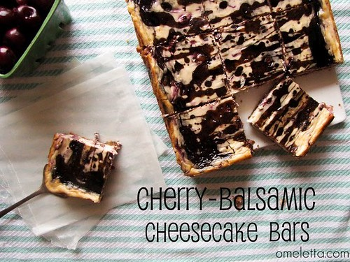 Cherry-Balsamic Cheesecake Bars