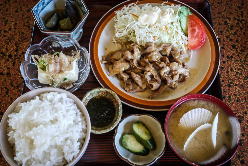 A great lunch for US$9 near Rumoi, Hokkaido, Japan