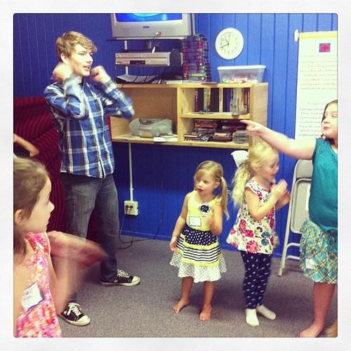 David and his backup girls.