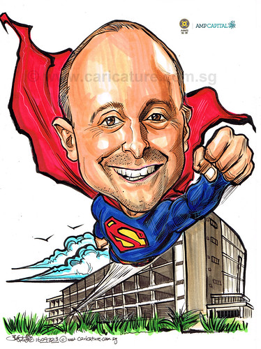 Superman caricature for AMP Capital