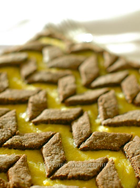 Crostata al Cacao con Semolino e Ricotta