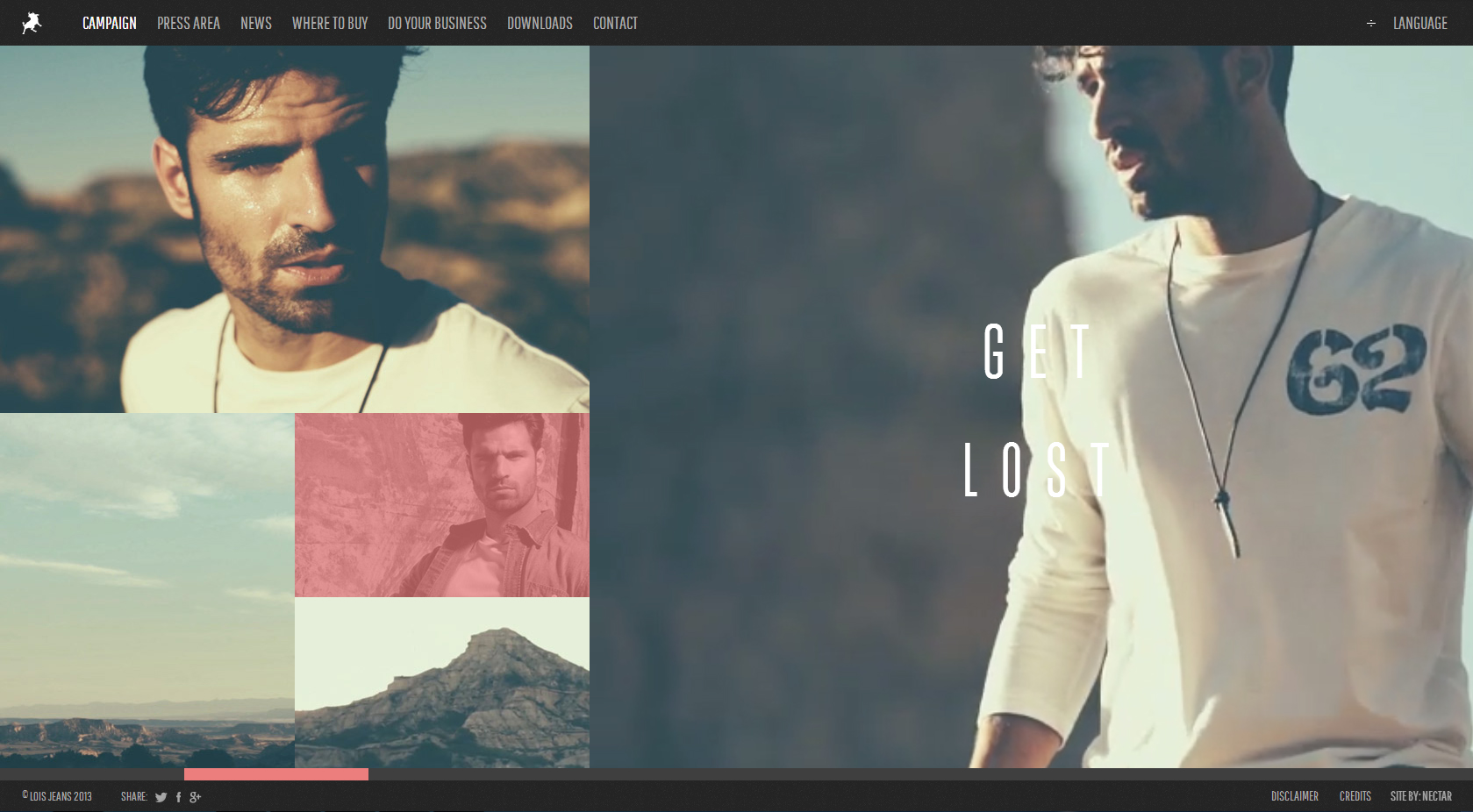 Loisjeans Website with Video Background