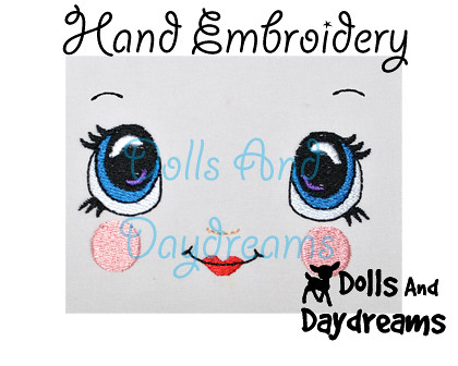 Kawaii Cute Embrodery Doll Face Designs by Dolls And Daydreams copy