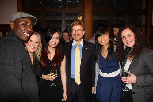 With several of my student advisers at the opening reception.