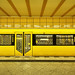 Yellow U-Bahn station, Berlin by Sallyrango