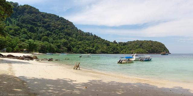Beach Panorama, Tenggul Island, Malaysia