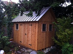 backyard, building, garden buildings, hut, wood, shack, cottage, log cabin, outhouse, shed,