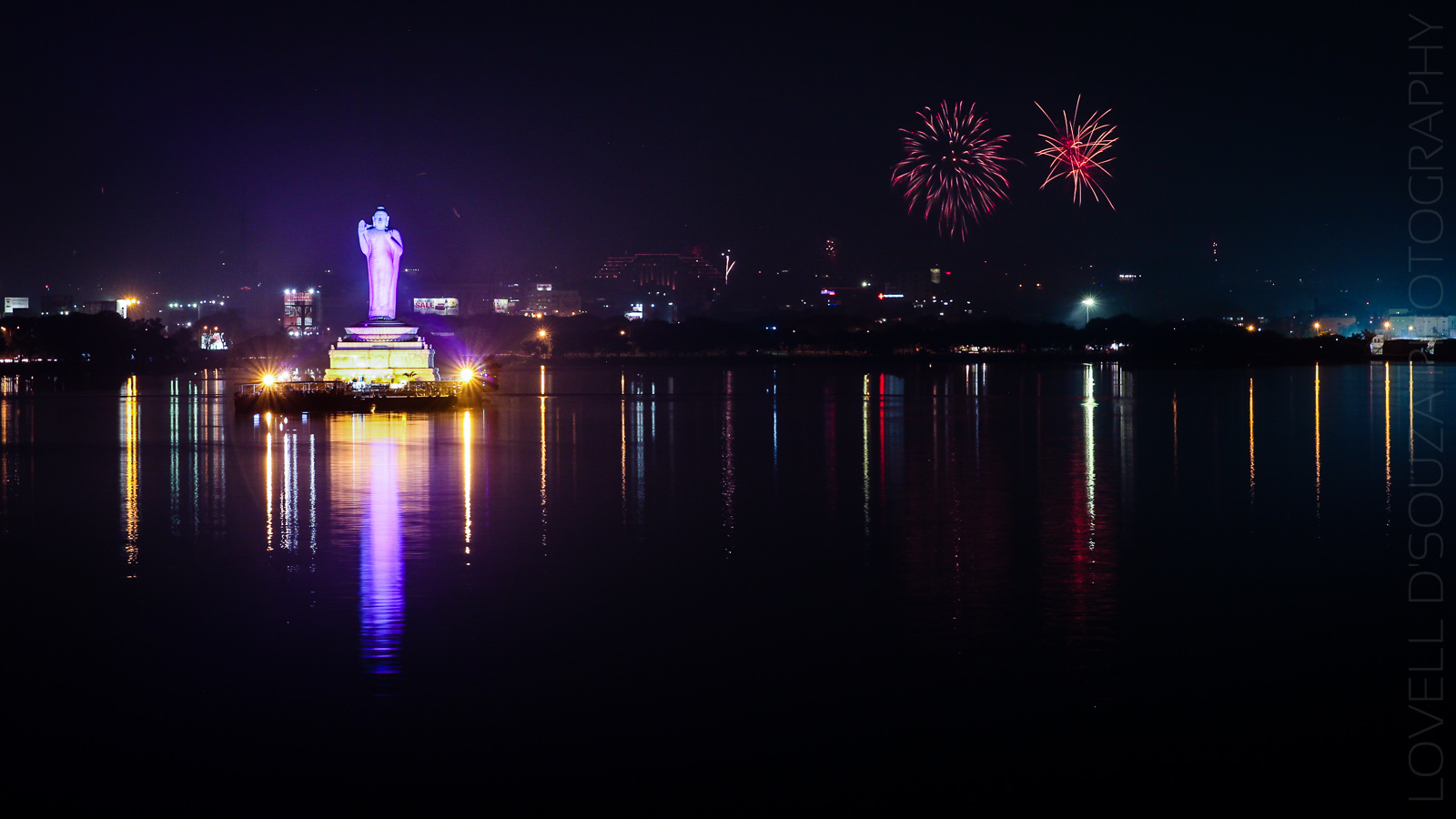 Diwali at the Hussain Sagar