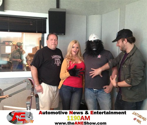 The Doc tries to control Actress/Model Jennifer Reed, The Gorilla, and the Coolest Guy in Dallas- Paul Salfen during The ANE Show. by theaneshow