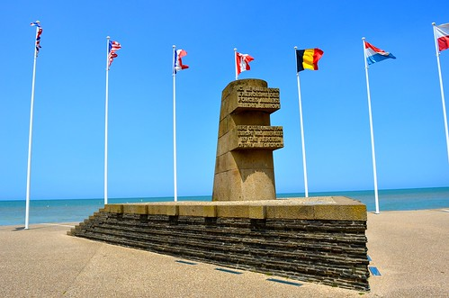 This monument sits next to the beach at Bernieres