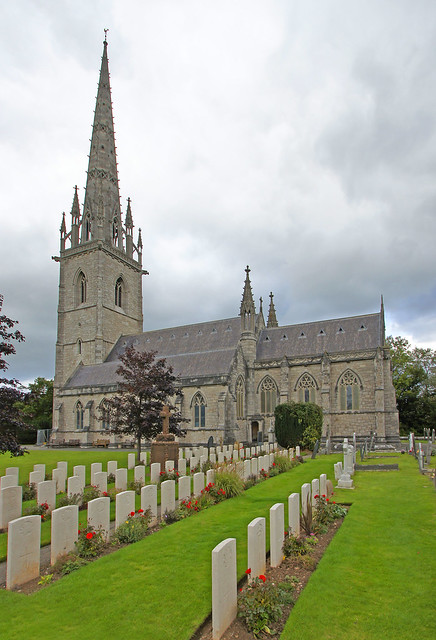 The Canadian war graves at St Margaret's Church, Bodelwyddan
