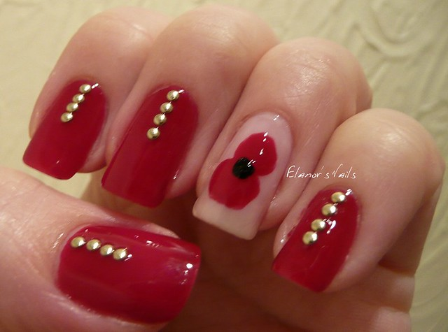 remembrance day nails 1
