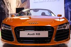 automobile, automotive exterior, vehicle, performance car, automotive design, auto show, audi r8, bumper, land vehicle, sports car,