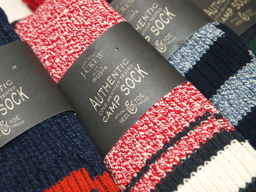 J.Crew / Stripe Camp Socks