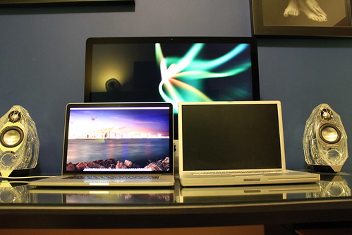 New 15 MacBook Pro Retina 2013 and old Powerbook 15 1.67