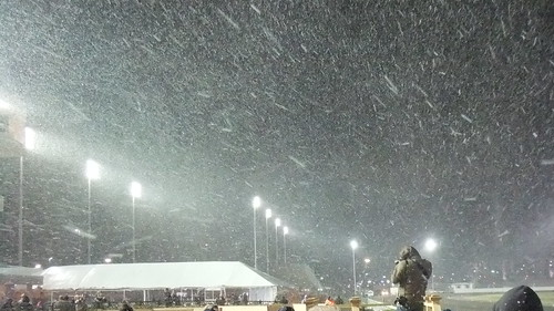 SnapShot | Let It #Snow Before The First Ever At The #New #Meadowlands Racetrack