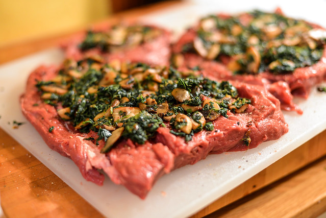 Mushroom & Spinach Stuffed Beef Tenderloin