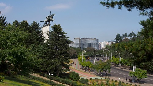 travel bus monument landscape scenery asia cityscape korea northkorea dprk youngpioneertours