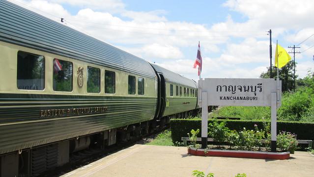 Pak Khwae Thailand  City new picture : Eastern & Oriental Express Train at Kanchanaburi Railway Station ...