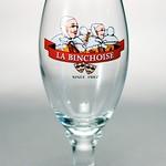 ベルギービール大好き!!【ラ・バンショワーズ・ブロンドの専用グラス】(管理人所有 )