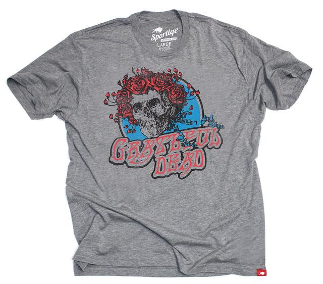 Sportiqe Grateful Dead Skull N Roses Comfy T-Shirt