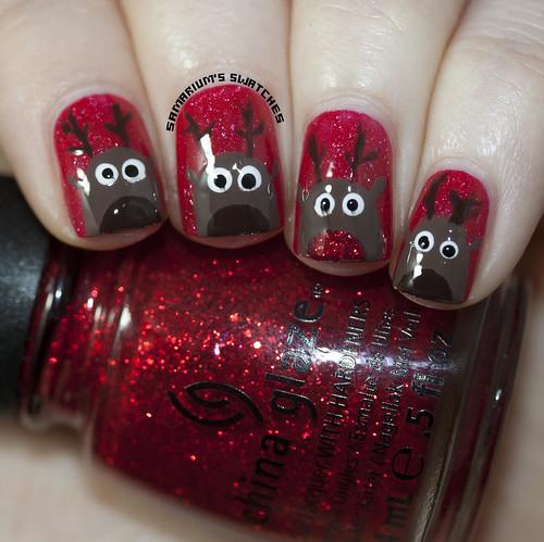 Reindeer nail art (3)