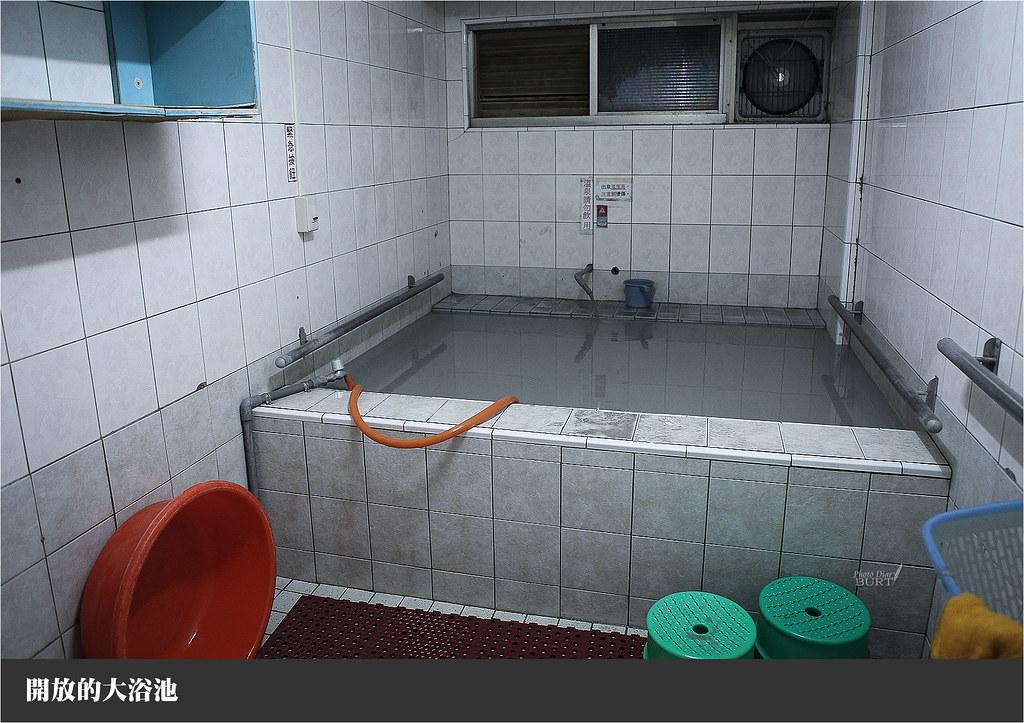 開放的大浴池