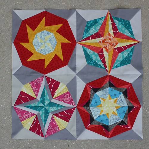 A Lucky Stars mini for the Minnesota Quilt Show