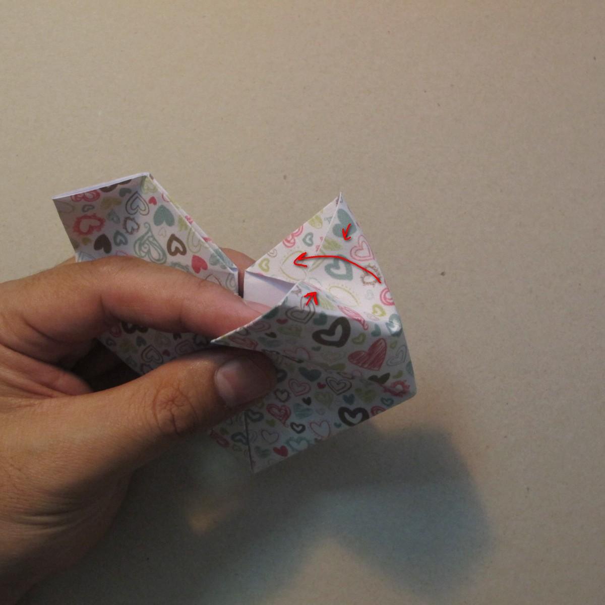 วิธีการพับกระดาษเป็นรูปหัวใจ 016