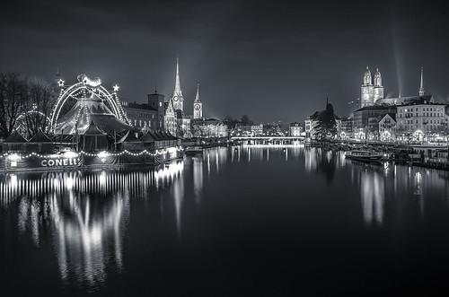 Zürich by night BW / classic's