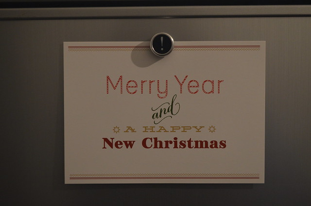 Merry Year and a Happy New Christmas card