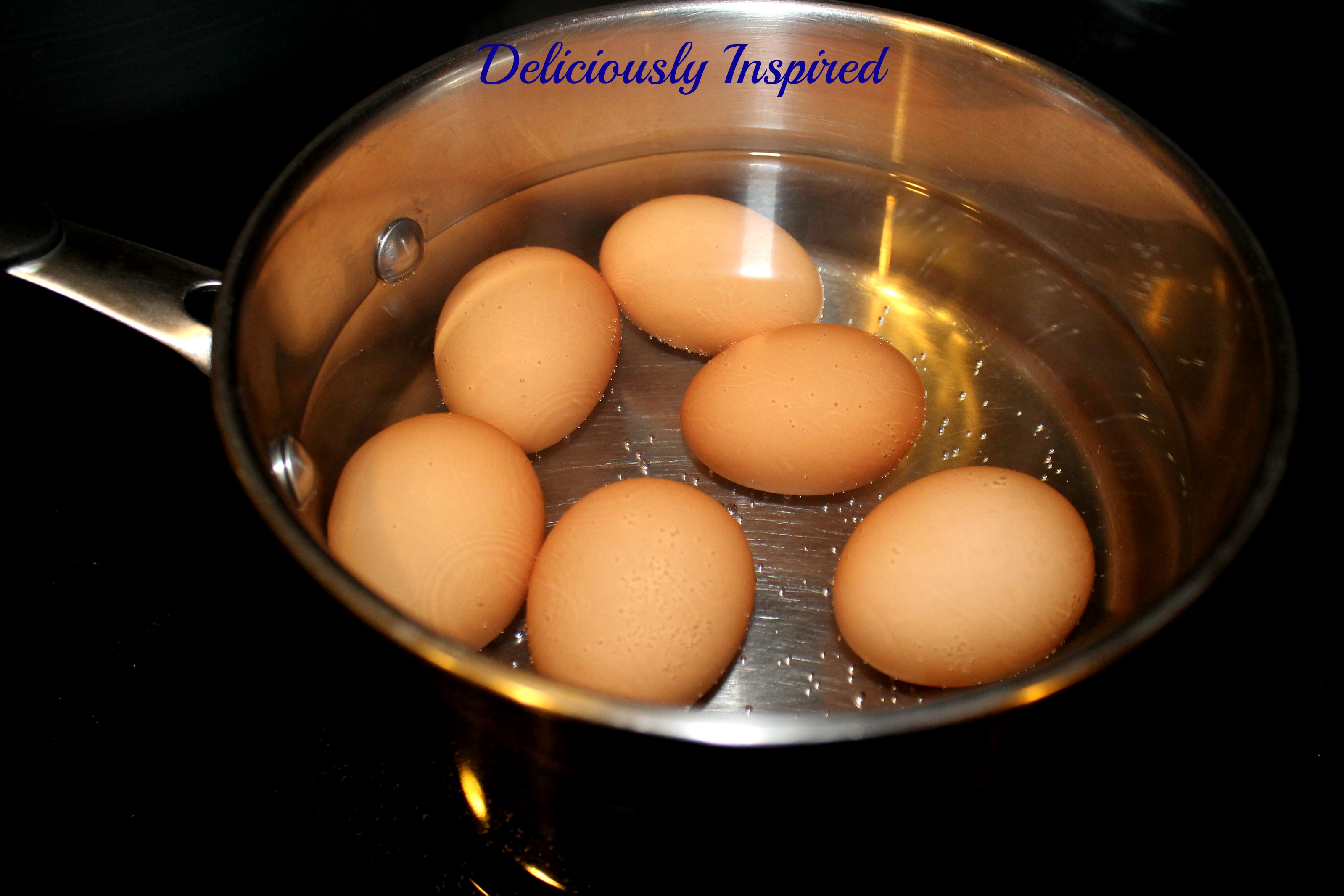 Hard Boiled Eggs - Add hot water
