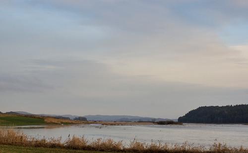 winter sky clouds river 50mm flooding flood hdr overflow halland viskadalen viskan veddinge
