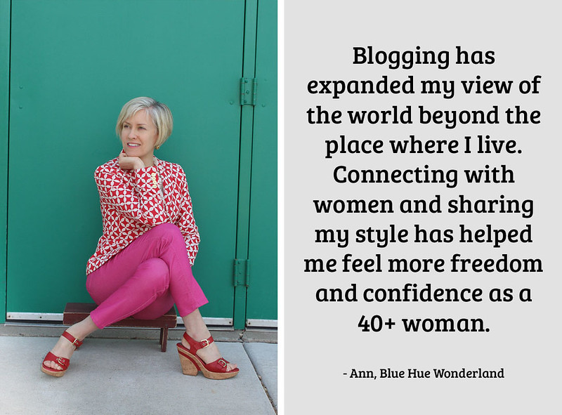 Ann, Blue Hue Wonderland on being a 40+ fashion blogger