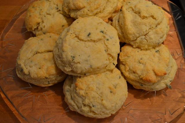 Christmas in January herb biscuits