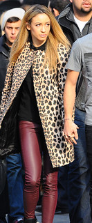 Danielle Peazer Leopard Print Coat Celebrity Style Women's Fashion