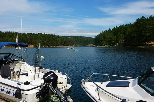 Horton Bay on Mayne Island, Southern Gulf Islands, British Columbia
