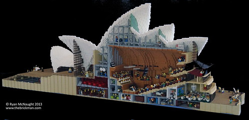 Cutaway Style Lego Sydney Opera House At Brickvention 2014