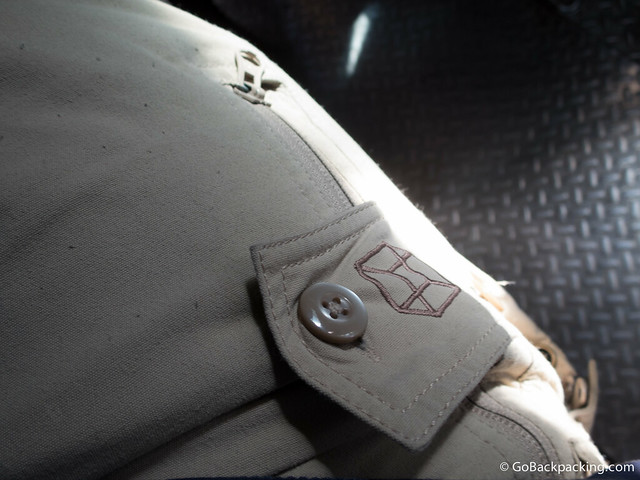 With the zipper down, and the flap closed, any pickpocket would be unable to access your belongings without you noticing
