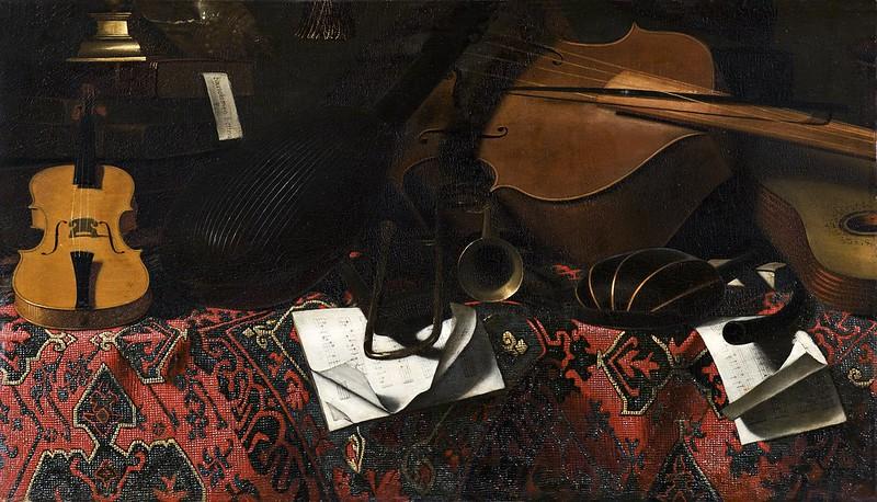 Bartolomeo Bettera - Still Life with Musical Instruments