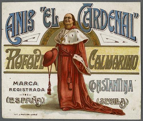 024- Etiquetas de bebidas. Figuras y retratos de hombres -1890 - 1920 - Biblioteca Digital Hispánica