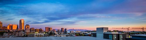 seattle sunrise washington unitedstates skyline spaceneedle