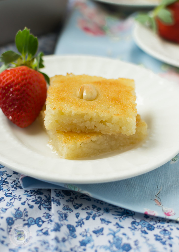 ROSEWATER AND ORANGE BLOSSOM SEMOLINA CAKE