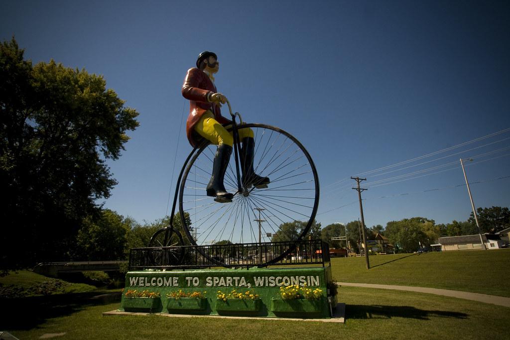 Big Ben, Ben Bikin, World's Largest Bicyclist in Sparta, Wisconsin