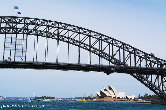 opera house with harbour bridge
