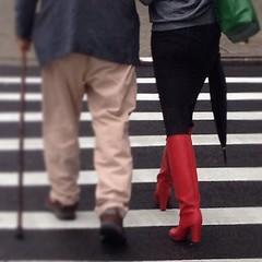 Rain boots with a Heel!!!! #jackpot