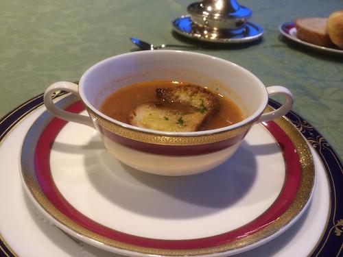 雑小魚クネル添え芳醇なスープドゥポアソン